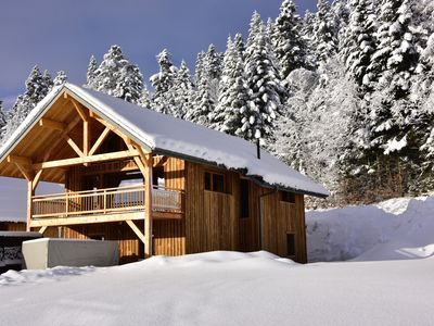 Photo for Charming Chalet in a Famillale station - La Féclaz
