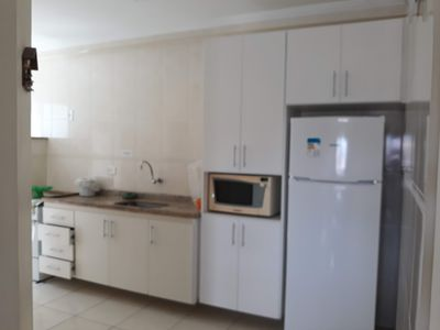 Photo for Thel Ubatuba - Apt 407 / B (2 bed., 80m from the beach, barbecue on the balcony)