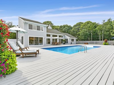 Photo for Stunning Hamptons Home!Heated Pool & Private Tennis, GreatLocation Bike to beach