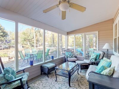 Photo for NEW LISTING! Lakefront home with boat ramp and dock, dog-friendly!