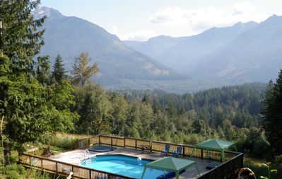 Photo for Stunning Mountain Views, Sunny,19 Acres, Pool & Hot Tub, Pool Table