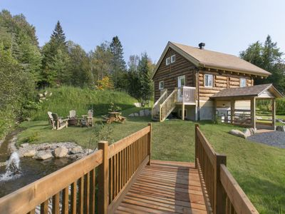 Photo for Vacation home Long Lake Log Home  in Sainte - Adolphe, Quebec - 8 persons, 3 bedrooms