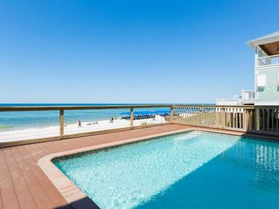 Photo for Directly on the  Beach, 6 bedroom Beach House with Pool and Hot tub. Oceanfront