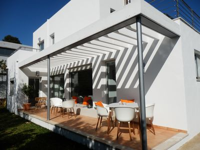 Photo for Contemporary villa with private pool, air-conditioning & 300m to the beach/sea