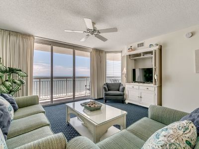Photo for Crescent Shores 1208, 3 Bedroom Beachfront Condo, Hot Tub and Free Wi-Fi!