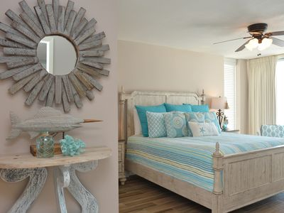 Fabulously decorated chic coastal master suite! Luxury awaits you here!
