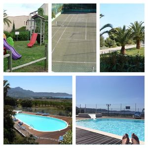 Photo for Magnificent views of Calvi bay, superb pool, mobile air conditioner