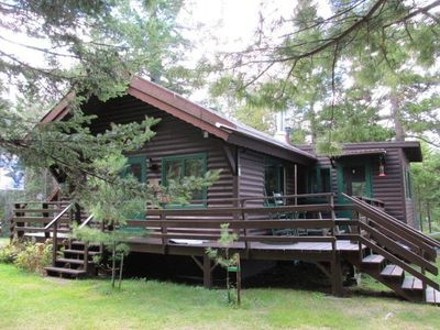 Photo for Single floor log camp on the shores of Loon Lake