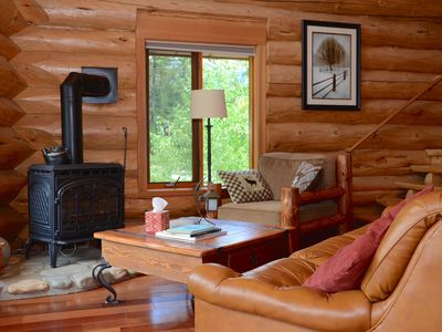 Photo for Gorgeous Custom Riverfront Log Home