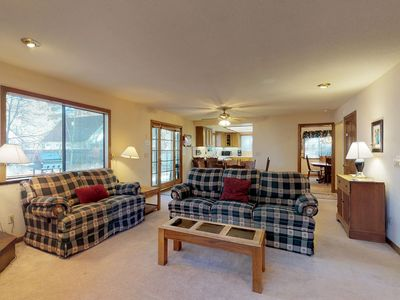 Photo for Dog-friendly retreat w/ private hot tub, deck, and large yard - plenty of charm!