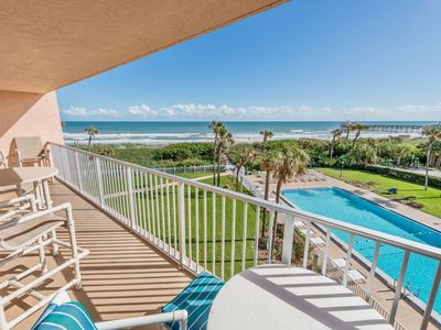Photo for Best views in Cocoa Beach! Family friendly, on the beach and right by the Pier!