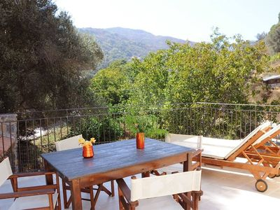 Photo for Country house near SPILI with peaceful garden, orange trees and jacuzzi
