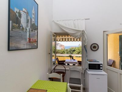 Photo for Two bedroom apartment with terrace and sea view Petrčane, Zadar (A-14327-b)