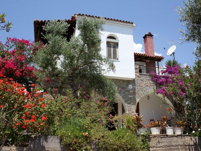 Photo for Beautiful located holiday house above the beach, wifi   Messenia, Peloponnese
