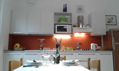 Photo for Padua, bright apartment,Free Wifi,Free Parking,5 min from the tram