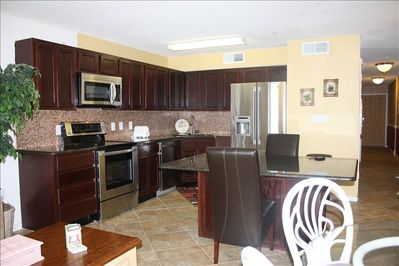 Upgraded beautiful granite kitchen with LG stainless appliance package