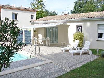 Photo for New house, heated swimming pool, quiet, in beautiful surroundings, close to the sea