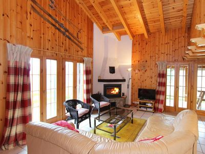 Photo for Surface area : about 120 m². Living room with fireplace. 2 bedrooms with double bed
