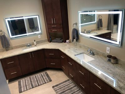 Master bathroom - all three bathrooms have just been remodeled