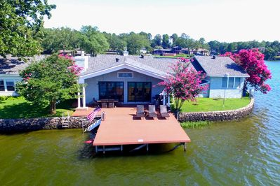Bask in the sunshine on the expansive dock!