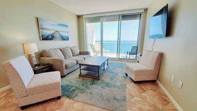 Spectacular beach views from the living area