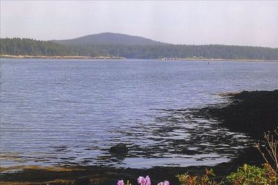 View of Schoodic Mountain, Acadia National Park from house