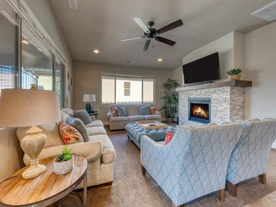 Photo for Gorgeous, brand new home w/ shared hot tub, pool & more, convenient location!
