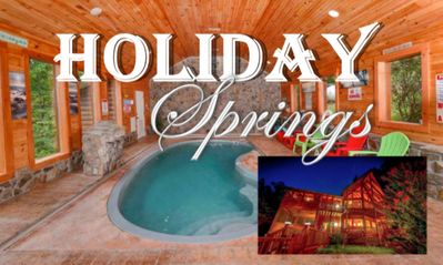 Photo for NEW! PRIVATE POOL, FUN HOLIDAY THEME, 3 BEDROOM, 2 ACRES! HOLIDAY SPRINGS CABIN!