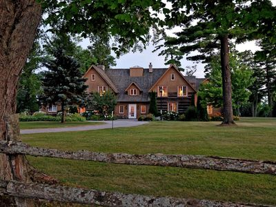 Photo for The Dunsford House - A Historic Luxurious Waterfront Log Mansion