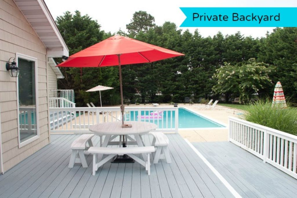 RELAX and ENJOY! Secluded Oasis Pool House Rehoboth Beach Delaware