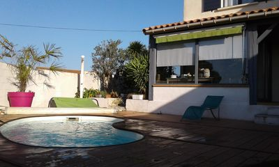 Photo for Villa 8 people / heated pool near sea +