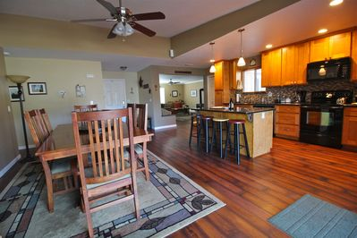 Open floor plan allows everyone to be together but still have their own space
