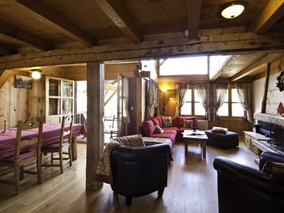 Photo for Charming apartment, quiet, in Megève. (The slopes)