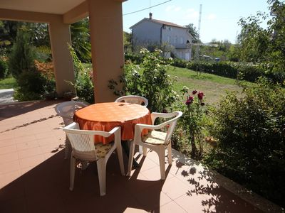 Photo for Two bedroom apartment with terrace Presika, Labin (A-7390-b)