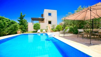 Photo for Traditional Villa, Private Pool, Fitness Room & Panoramic Views to the Beautiful Crete Countryside!