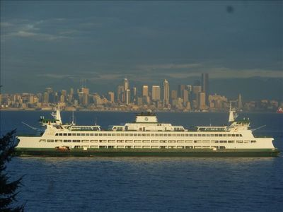 This could be your view to enjoy.  Ferry and Seattle skyline!