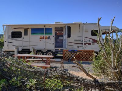 Photo for In Noyo Harbor -  NEW Travel trailer / furnished deck, Awesome views and sounds