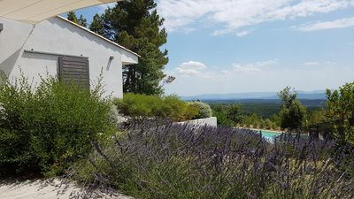 Photo for superb contemporary villa with exceptional views in Tourtour