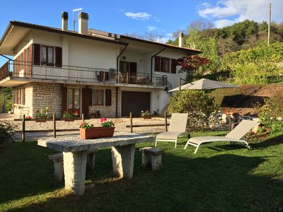Photo for Panoramic apartment between the lake and the mountains, quiet and surrounded by nature
