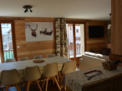 Photo for 100 sqm the Col des Rochilles / 10 people 4 **** in the center of Valloire