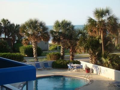 Photo for Beautifully updated condo steps to the ocean sleeps six!