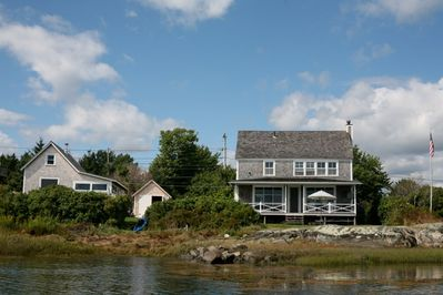 Harbor Cottage with the guest house to the left