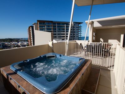Photo for Redcliffe Beachfront Penthouse. Luxury 4 Bedroom With Private Balcony And Spa