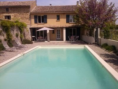 Photo for MAS D'ILILI, property between Gorges de l'Ardèche and Mont Ventoux, private pool