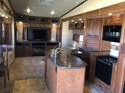 Photo for Beautiful large RV  with spectacular views close to Stephenville, TX