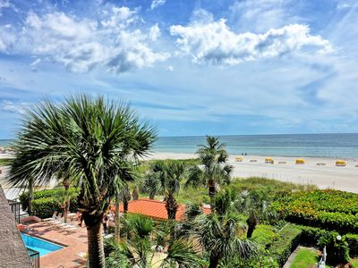 Photo for OUR BEACH IS OPEN! GULF BEACH RESORT #403 UPDATED BEACH FRONT, BEST SUNSETS