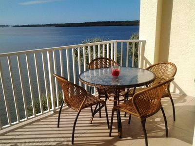 Photo for Waterfront condo with private balcony. Sun All Day!
