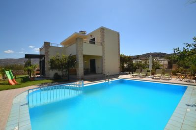 Christina1 Beautiful villa,Main facade of the property,