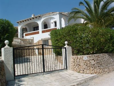 Photo for PRIVATE VILLA WITH SEA VIEW, POOl, AIR CON,  WIFI. 5 MIN WALK TO BEACH. NR CALP