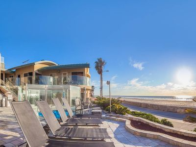 Photo for Modern, Beachfront Condo with Shared Hot Tub and Ocean Front Views!